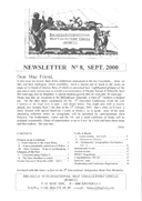 Newsletter No 8 cover