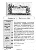 Newsletter No 20 cover